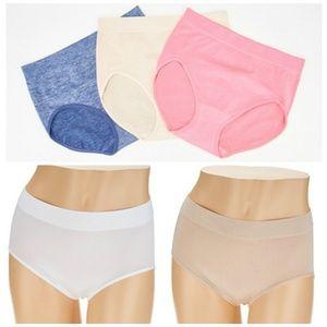 Breezies Set of 6 Seamless Brief Panties NEW P351
